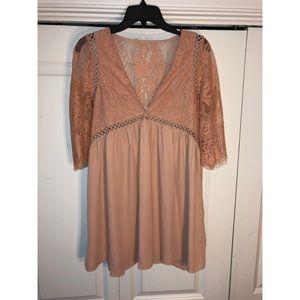 Short blush dress